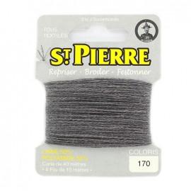 Laine Saint Pierre pour repriser / broder - cendre n°170