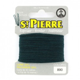 Laine Saint Pierre 40 M card Darning / embroidery - 890 Dark green
