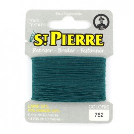 Laine Saint Pierre 40 M card Darning / embroidery - 762 Petrol
