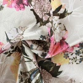 Tissu jacquard réversible Goldy Blossom x 10cm