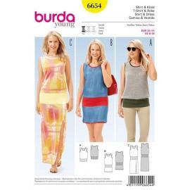 Robe et haut Burda n°6654