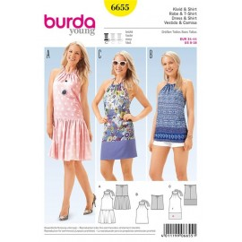 Dress and shirt Burda Young n°6655