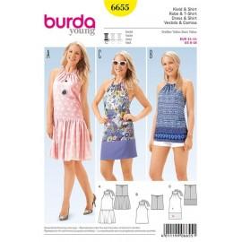 Robe et t-shirt Burda n°6655