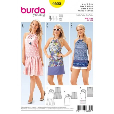 Robe et t-shirt Burda n°6655