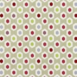 Tissu coton enduit vernis Bahia - pomegranate x 10cm