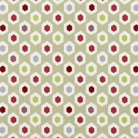 Varnished And Coated Cotton Fabric Bahia Pomegranate X