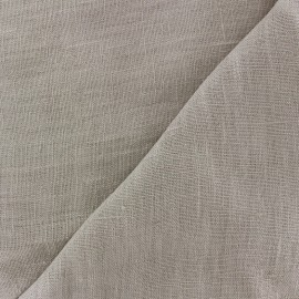 Tissu lin lavé Thevenon - perle x 10cm