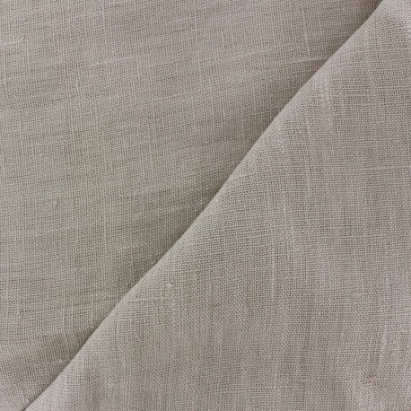 Thevenon washed Linen Fabric - pearl x 10cm