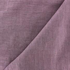 Tissu lin lavé Thevenon - parme x 10cm