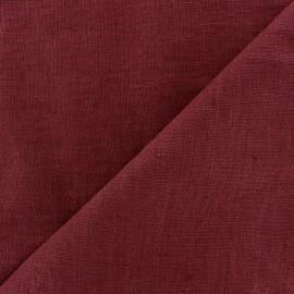 Thevenon washed Linen Fabric - aubergine x 10cm