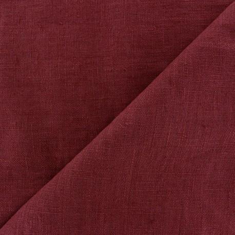 Tissu lin lavé Thevenon - aubergine x 10cm