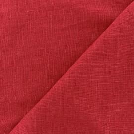 Tissu lin lavé Thevenon - rouge x 10cm