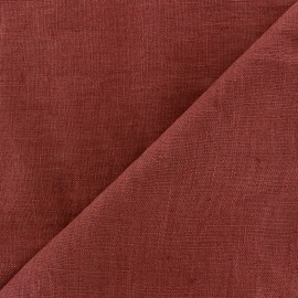 Thevenon washed Linen Fabric - bourgogne x 10cm
