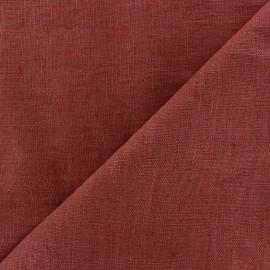 Thevenon washed Linen Fabric - bourgogne x 10cm