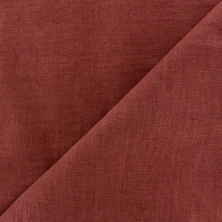 Tissu lin lavé Thevenon - bourgogne x 10cm