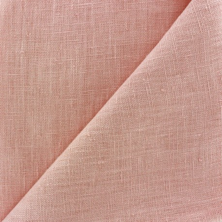Thevenon washed Linen Fabric - powded pink x 10cm