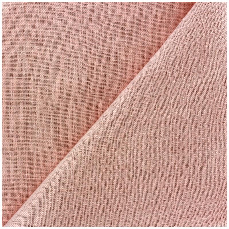tissu lin lav thevenon rose poudr x 10cm ma petite mercerie. Black Bedroom Furniture Sets. Home Design Ideas