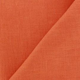 Thevenon washed Linen Fabric - mandarin x 10cm