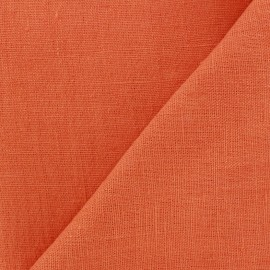 Tissu lin lavé Thevenon - mandarine x 10cm