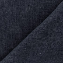 Thevenon washed Linen Fabric - navy x 10cm