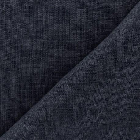 Tissu lin lavé Thevenon - marine x 10cm