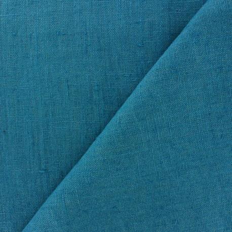 tissu lin lav thevenon bleu canard x 10cm ma petite mercerie. Black Bedroom Furniture Sets. Home Design Ideas