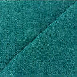 Thevenon washed Linen Fabric - ocean blue x 10cm