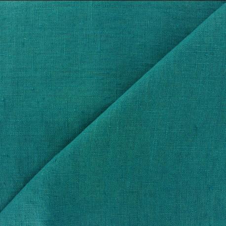 Tissu lin lavé Thevenon - bleu océan x 10cm