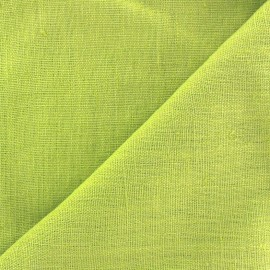 Tissu lin lavé Thevenon - anis x 10cm