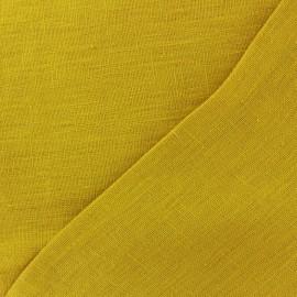 Tissu lin lavé Thevenon - moutarde x 10cm