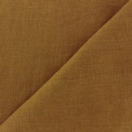Tissu lin lavé Thevenon - curry x 10cm