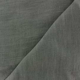Thevenon washed Linen Fabric - bronze grey x 10cm