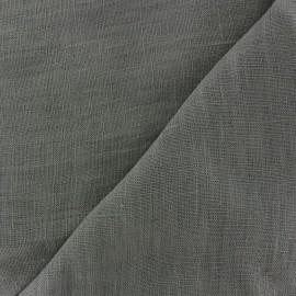 Tissu lin lavé Thevenon - gris x 10cm