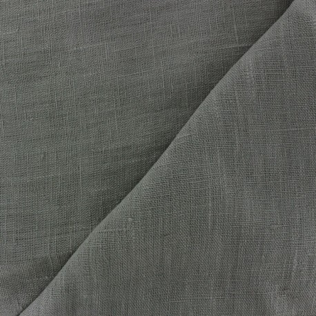 Thevenon washed Linen Fabric - grey x 10cm