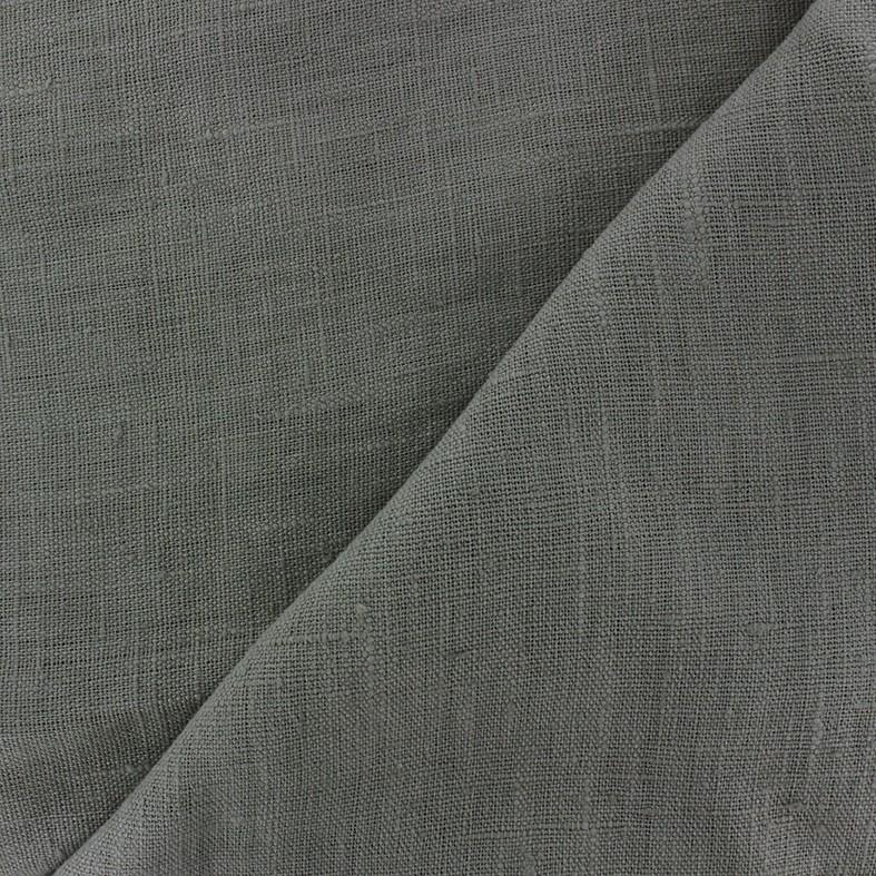 30c8760b1a61b Tissu lin lavé Thevenon - gris bronze x 10cm - Ma Petite Mercerie