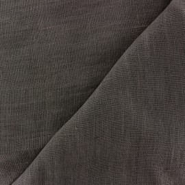 Thevenon washed Linen Fabric - anthracite x 10cm