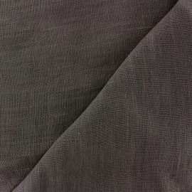 Tissu lin lavé Thevenon - gris anthracite x 10cm