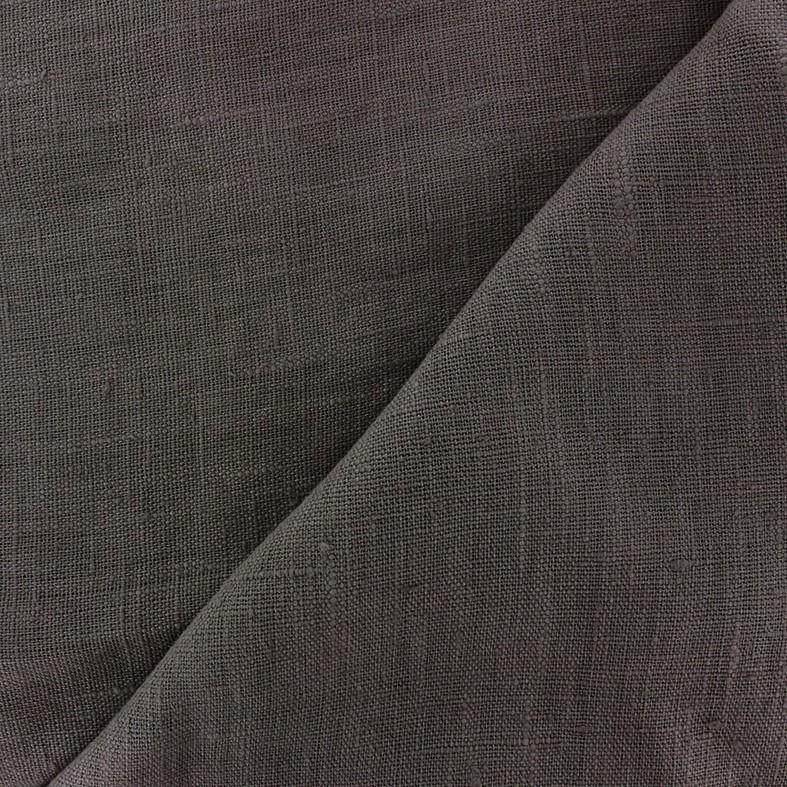 18604853a74e7 Tissu lin lavé Thevenon - gris anthracite x 10cm - Ma Petite Mercerie