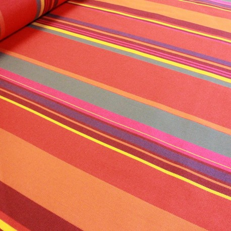 Tissu toile Plein Air Sait Tropez 320cm - rouge x 10cm