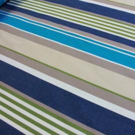 Tissu toile Plein Air Elba 320cm - bleu x 10cm