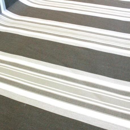 Tissu toile Plein Air La Baule 320cm - taupe x 10cm