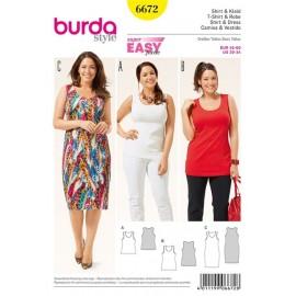 Patron Femme T-shirt et robe Burda n°6672