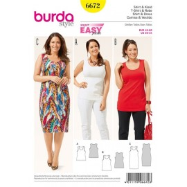 T-shirt et robe Burda n°6672