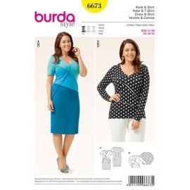 T-shirt et robe Burda n°6673