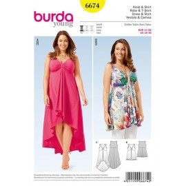 T-shirt et robe Burda n°6674