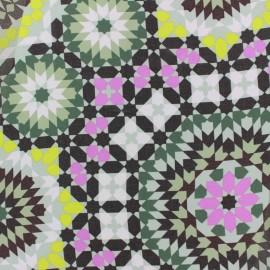 Tissu mousseline Zellij - vert x 50cm