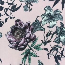 ♥ Coupon tissu 90 cm X 140 cm ♥ Tissu mousseline Spring - rose