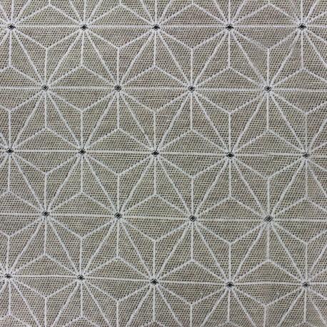 Jacquard fabric Stella - linen ecru x 10cm