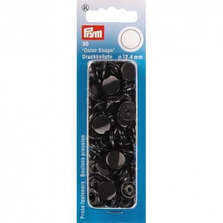 30 snap-buttons Color Snaps - black