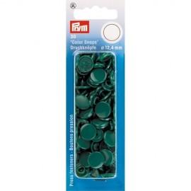 30 pressions Color Snaps ronde vert foncé